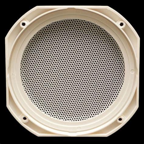 Boat Speaker Covers by Custom White 7 1 4 Inch Steel Boat Speaker Cover