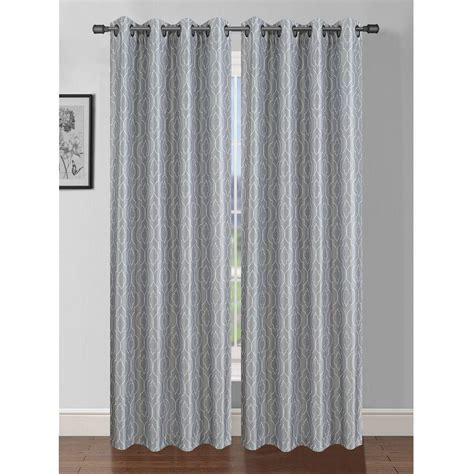 light grey curtains window elements semi opaque jasper printed faux silk 84 in