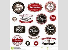 Etiquetas Do Restaurante Do Vintage Ilustração do Vetor
