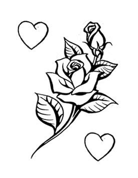 Not the hearts. Rose Outline With Stem Tattoo Rose outline with stem tattoo | Tatto likes