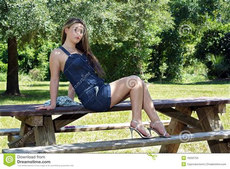 Beautiful Teen Girl Outdoors 6 Stock Image Image Of Shade Person 16202753