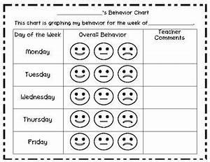 weekly smiley behavior chart weekly behavior charts With smiley face behavior chart template