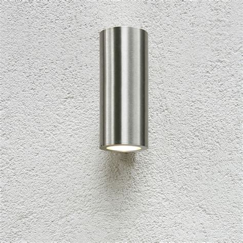 astro detroit brushed stainless steel outdoor wall light at uk electrical supplies