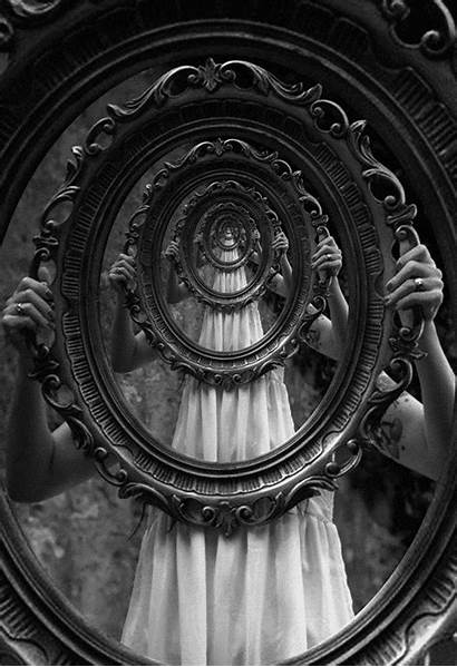 Occult Surreal Dark Glass Looking Through