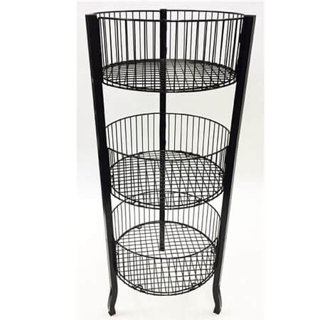 tier wire dump bin rack retail display racks basket displays