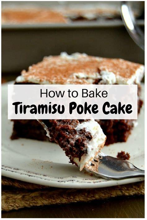 bake tiramisu poke cake  budget diet