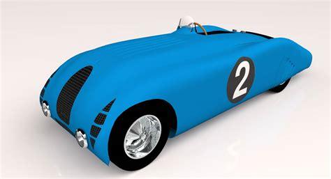 "A bugatti 57g, alfa romeo 8c 2300 mm, stutz supercharged le mans and auburn 851 speedster are. Bugatti Type 57 ""tank"" - 3D Model - ShareCG"