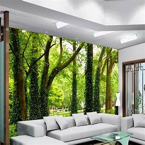 Beautiful woods wallpaper custom wall mural nature