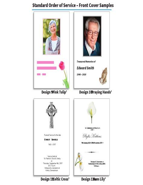 order  service brochure  memoriam cards