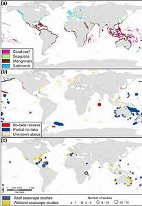 Global Distribution Of Coral Reef  Seagrass  Mangrove And