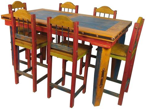 mexican kitchen table and chairs mexican painted furniture furniture gt dining room