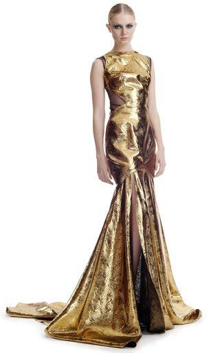 gold lame evening gown  prabal gurung moda operandi