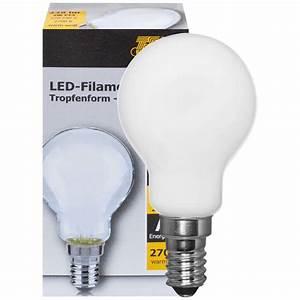 Filament Led E14 : filament led lampe tropfen form matt e14 230v led filamentlampen led leuchtmittel ~ Markanthonyermac.com Haus und Dekorationen