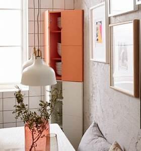 Rosa Geschirr Ikea : nahaufnahme von ikea ps 2014 eckschrank in rosa gef llt mit wei em geschirr ideas for a ~ Frokenaadalensverden.com Haus und Dekorationen