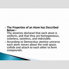 Structure And Properties Of The Atom