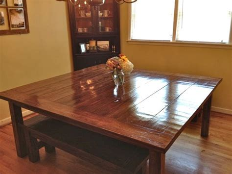 massive  farmhouse table finished tommy ellie