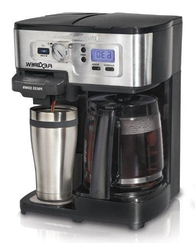 Keep ground coffee below max fill line and do not use more than 10 ounces (296 ml) of water. Hamilton Beach FlexBrew Single Serve & Full Pot