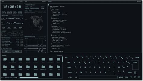 science fiction inspired desktop ui   linwinmac