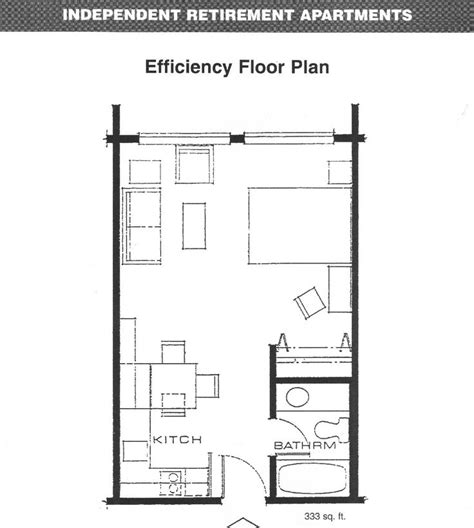 Efficient House Plans by Apartments Efficiency Floor Plan Floorplans Studio
