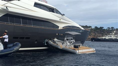 Yacht Accident tender crashes into superyacht in ibiza boat international