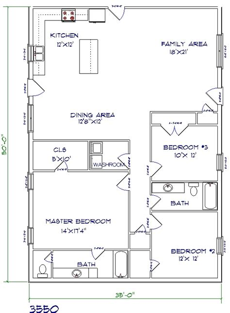 barndominium floor plans top 5 metal barndominium floor plans for your home