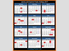Jammu and Kashmir India Public Holidays 2017 – Holidays