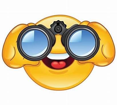 Binoculars Smiley Clipart Emoticons Emoji Looking Face