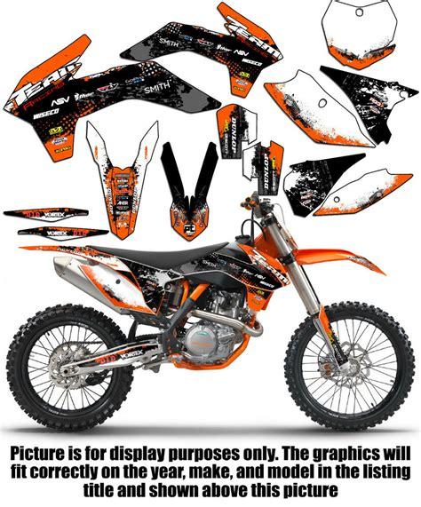 2011 2012 ktm sxf 250 350 450 graphics deco decals stickers 4 stroke ebay