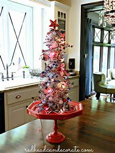 Fourth of July Christmas Tree - Redhead Can Decorate