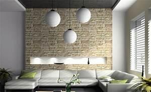 Tapeten Wohnzimmer 2016 : stein tapeten erschaffen ein komfortables ambiente in ihrem zuhause ~ Orissabook.com Haus und Dekorationen