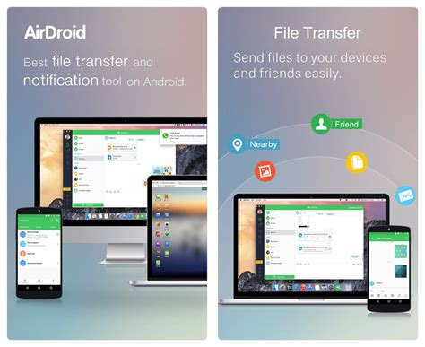 android apps that transfer data wirelessly between android