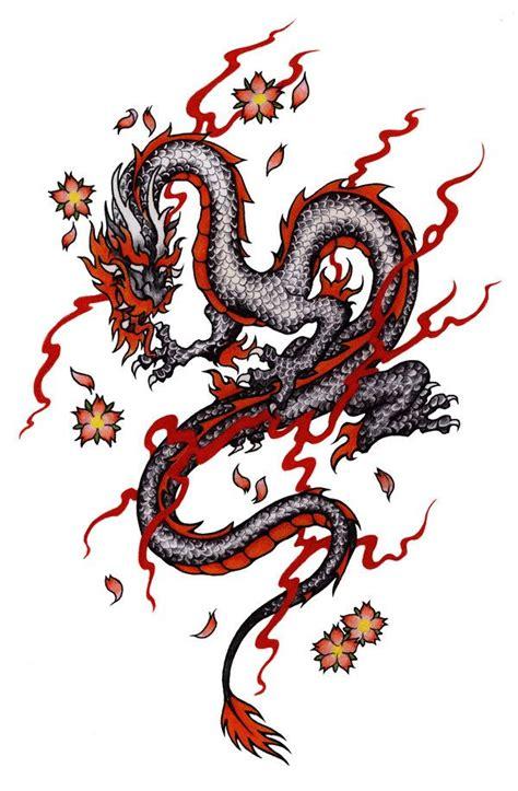 dragon design black  red  pallat  deviantart
