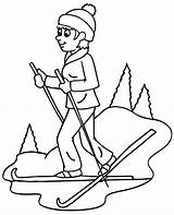Coloring Pages Winter Sports Country Cross Skiing sketch template