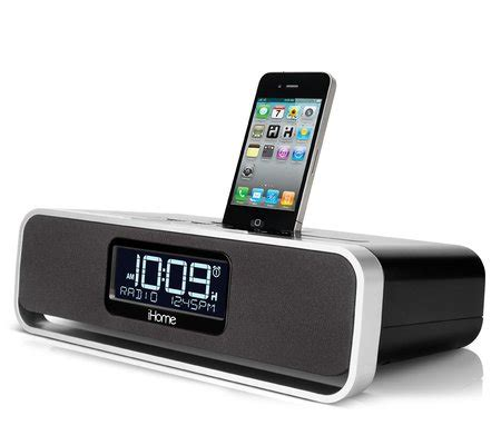 iphone clock radio ihome ia91 app enhanced dual alarm stereo clock radio for