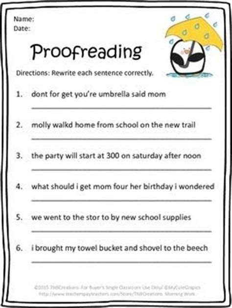 217 Best Proofreading Activities Images On Pinterest  Handwriting Ideas, Learning Resources And