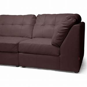 warren 4 piece modular sectional sofa dark brown leather With 4 piece modular sectional sofa