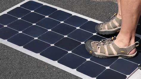 rugged flexible solar panel lensun  watt  rv