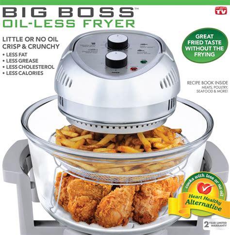 fryer oil less deep boss air fryers cooking cooker chicken frying food fry cook kitchen healthy watt 1300 flavor jackie
