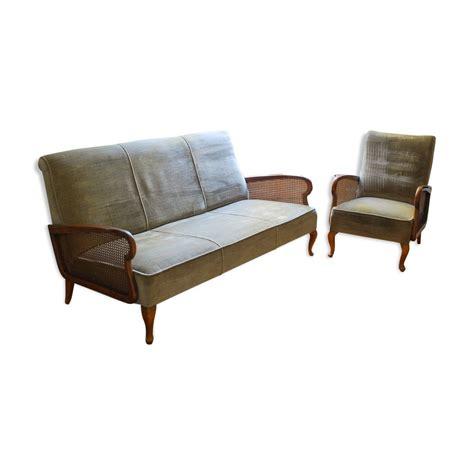 ensemble fauteuil canapé ensemble canapé et fauteuil vintage mes petites puces