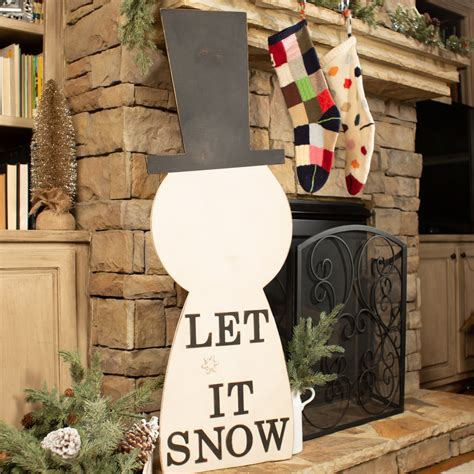 snowman porch sign unfinished wood