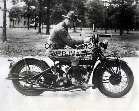 Wwii Indian Motorcycle Machine Gun Photo Army Calvary
