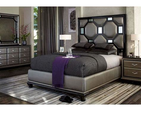 aico   bedroom set  black onix ai  blk