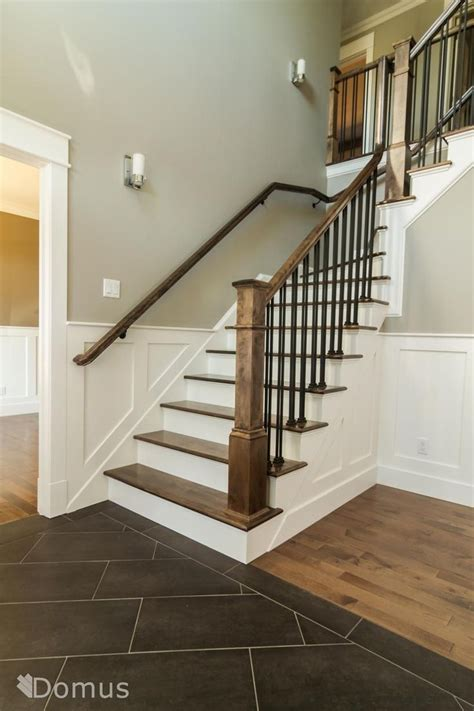 Black Staircase Banister by Staircase With White Accents And Black Metal Spindles
