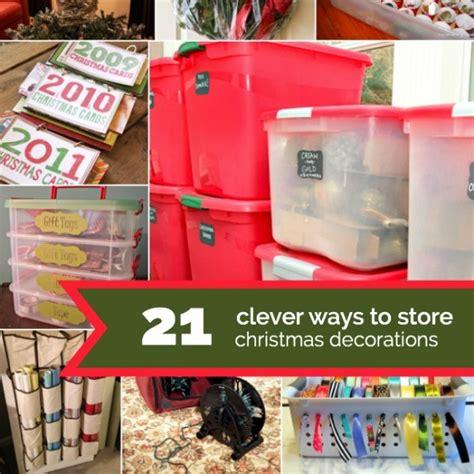 creative christmas decoration storage ideas