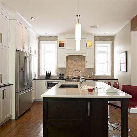 cuisine brun et blanc cuisines beauregard cuisine réalisation 297 cuisine