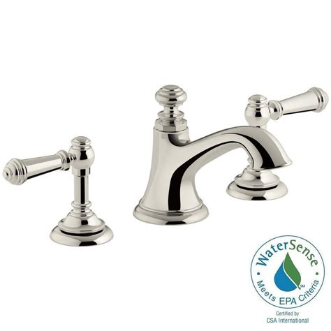 kohler artifacts   widespread  handle bell design bathroom faucet  vibrant polished