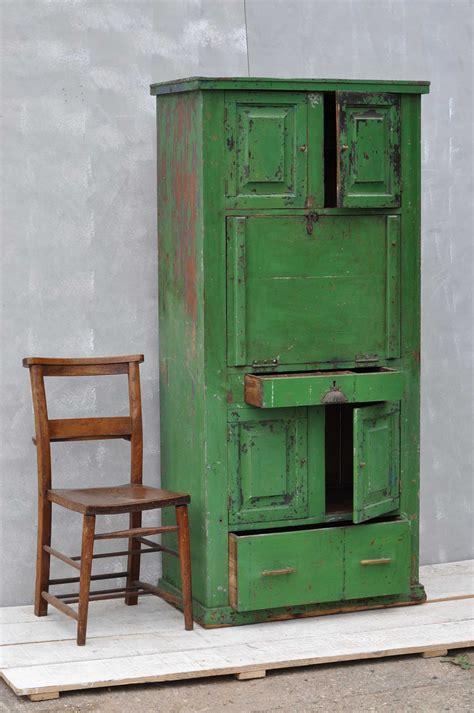 bureau vintage rustic vintage bureau cabinet original green