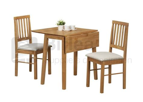 birlea drop leaf table and two chairs in oak finish beds