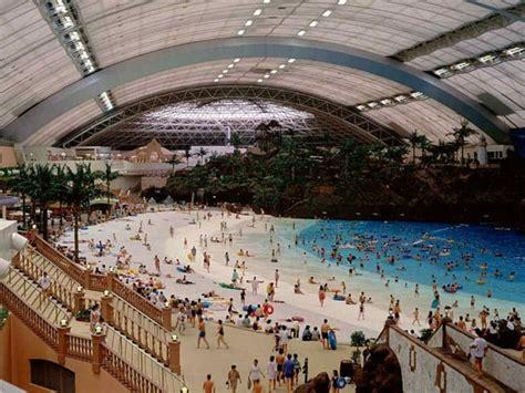 seagaia ocean dome japans indoor man  beach