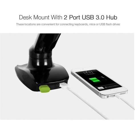 desk mounted usb 3 0 hub loctek store loctek desk monitor mount w usb port d5u